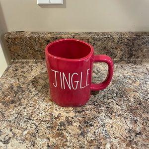 Rae Dunn Red Jingle Christmas mug